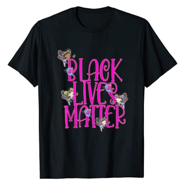 Black Queens NYC Graphic Tshirt 1 Kids Black Lives Matter Shirt Fairy Fairies Black Girl BLM T-Shirt
