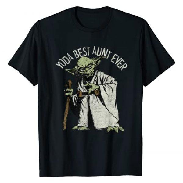 Star Wars Graphic Tshirt 1 Yoda Best Aunt Ever Portrait T-Shirt