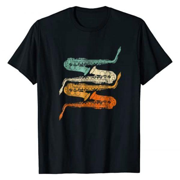 Retro Saxophone Jazz Sax Player TShirts Graphic Tshirt 1 Vintage Retro 70s Saxophone Shirt For Sax & Saxophonist
