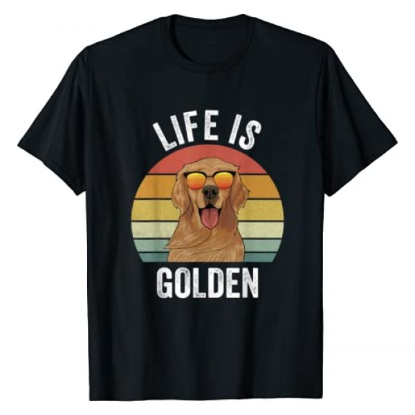 Catch Some Rays Graphic Tshirt 1 Retro Life Is Golden Shirt Golden Retriever Gifts Funny Dog T-Shirt