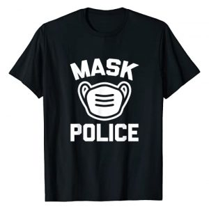 Funny Shirt With Saying & Funny T-Shirts Graphic Tshirt 1 Mask Police T-Shirt funny saying sarcastic novelty face mask T-Shirt