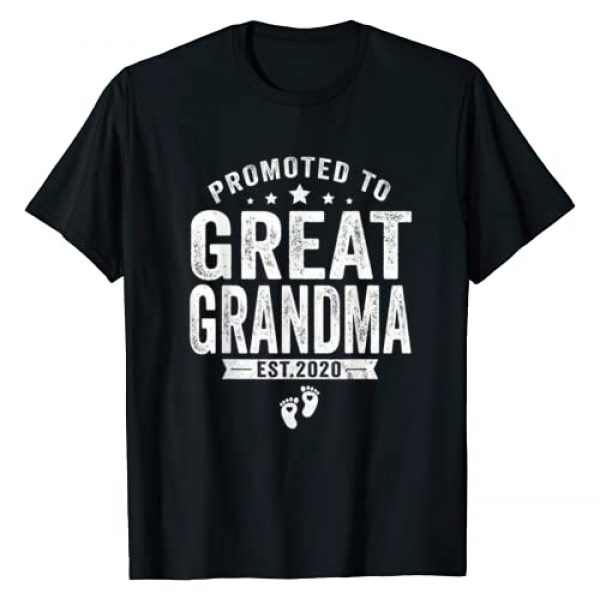 Promoted To Great Grandma 2020 Funny T-Shirt Graphic Tshirt 1 Promoted To Great Grandma est 2020 Shirt Mother's Day Gift T-Shirt