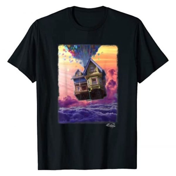 Disney Graphic Tshirt 1 Pixar Up Balloon House Cloud Portrait Graphic T-Shirt