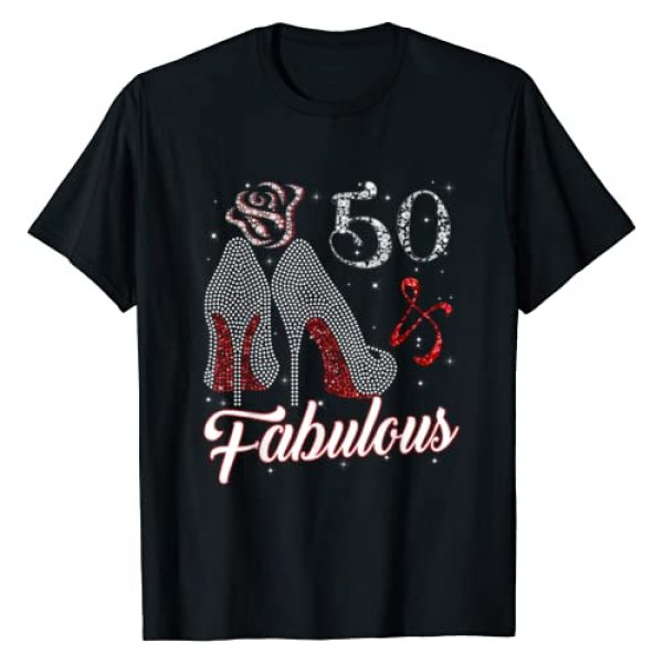 Funny 50th Birthday Gift Ever T-shirts For Womens Graphic Tshirt 1 Womens 50 And & Fabulous 1969 50Th Birthday Gift T-Shirt