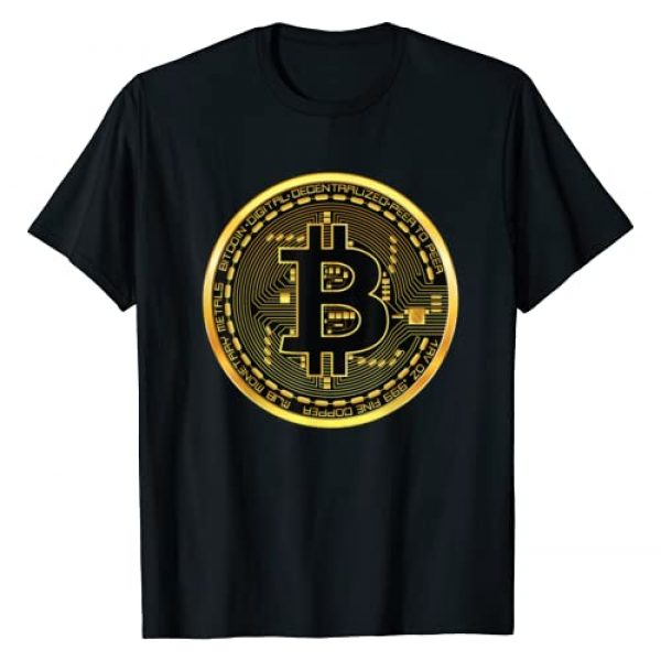 Bitcoin Clothing Company Graphic Tshirt 1 Bitcoin Crypto Currency BTC Block Chain Techie Gold Coin T-Shirt