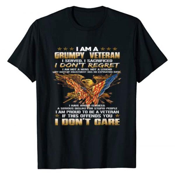 I Am A Grumpy Old Veteran Graphic Tshirt 1 I Served I Sacrificed Tee T-Shirt