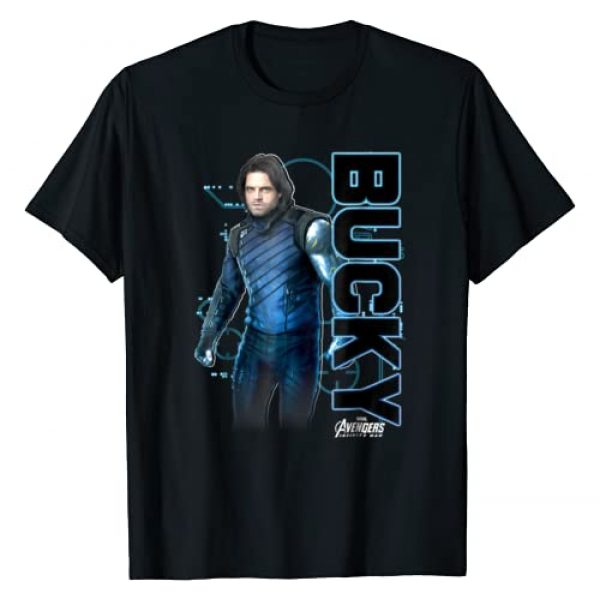 Marvel Graphic Tshirt 1 Avengers Infinity War Bucky Tech Graphic T-Shirt