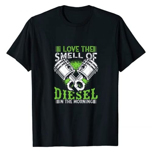 Diesel Graphic Tshirt 1 I Love the Smell of Diesel in the Morning Truck Driver Shirt
