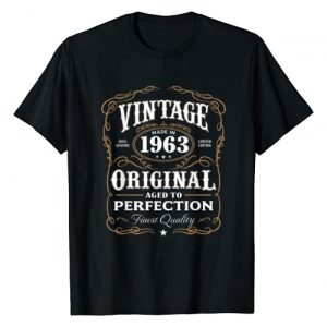 AGED TO PERFECTION Graphic Tshirt 1 Vintage Made In 1963 T-Shirt 55th Birthday Gift