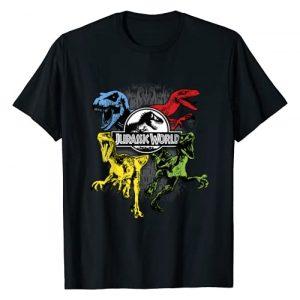Jurassic World Graphic Tshirt 1 Colorful Dinosaurs Poster Logo T-Shirt