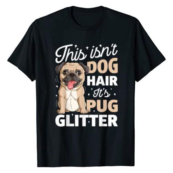 Pug DU Clothing Graphic Tshirt 1 This Isn't Dog Hair It's Pug Glitter T shirt Funny Dog Lover T-Shirt