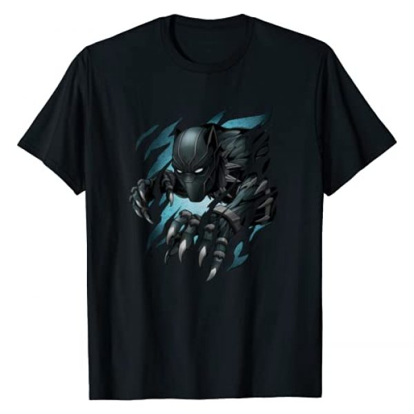 Marvel Graphic Tshirt 1 Black Panther T'Challa Claw Marks T-Shirt