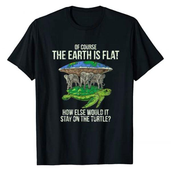 Flat Earth Shirt Funny Gift World Conspiracy Graphic Tshirt 1 Flat Earth Society T Shirt Turtle Elephants Men Women Gift