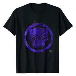 Marvel Graphic Tshirt 1 Black Panther Movie Purple Splatter Icon T-Shirt