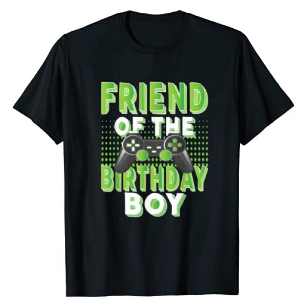 Kids Video Gaming Theme Matching Family Gifts Graphic Tshirt 1 Friend Of The Birthday Boy Gamer B-day Party T-Shirt