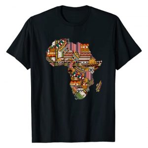 African Pride Teez Graphic Tshirt 1 African pride traditional ethnic pattern Africa map t-shirt
