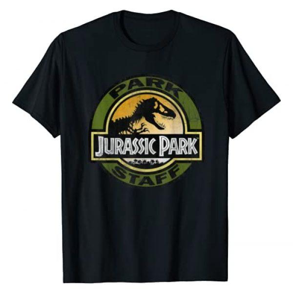 Jurassic Park Graphic Tshirt 1 Staff Retro Distressed Logo Graphic T-Shirt