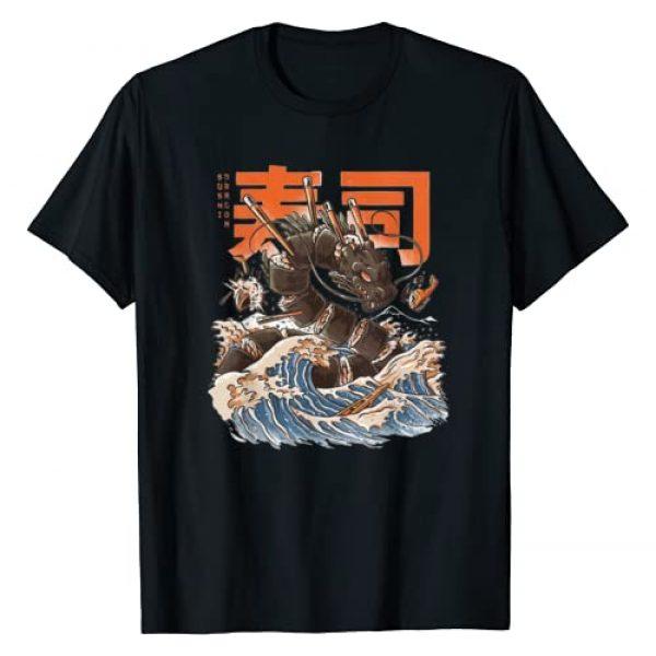 Janpan Funny t shirt Graphic Tshirt 1 Great Sushi Dragon Funny Vintage T-Shirt