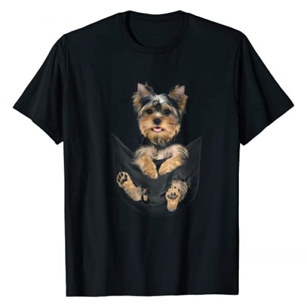 Yorkie Puppy in Pocket T-Shirt Graphic Tshirt 1 Yorkie Puppy in Pocket T-Shirt
