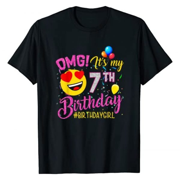 Funny 7 Years old Birthday Graphic Tshirt 1 OMG It's My 7th Birthday Girl Shirts 7 Years old Birthday T-Shirt