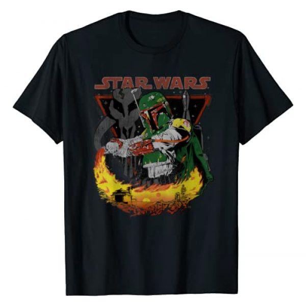Star Wars Graphic Tshirt 1 Boba Fett Tatooine Flame Graphic T-Shirt
