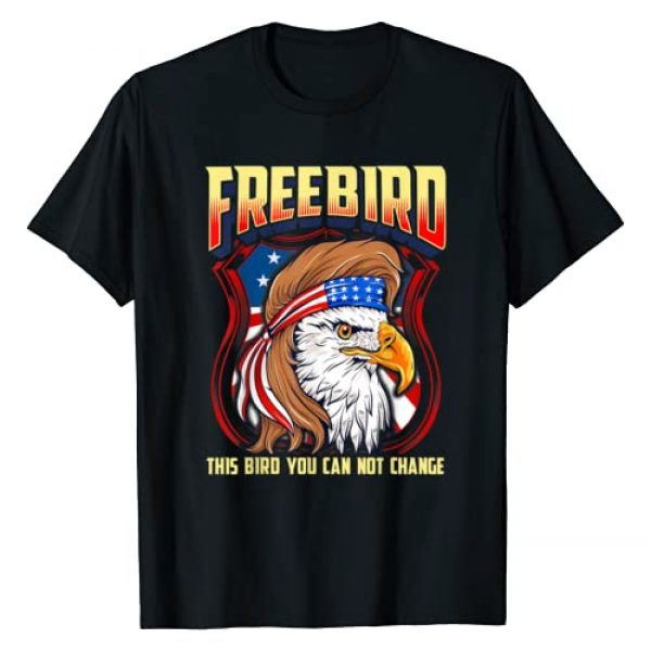 LyricLyfe Graphic Tshirt 1 FREE BIRD (USA Eagle) T-Shirt