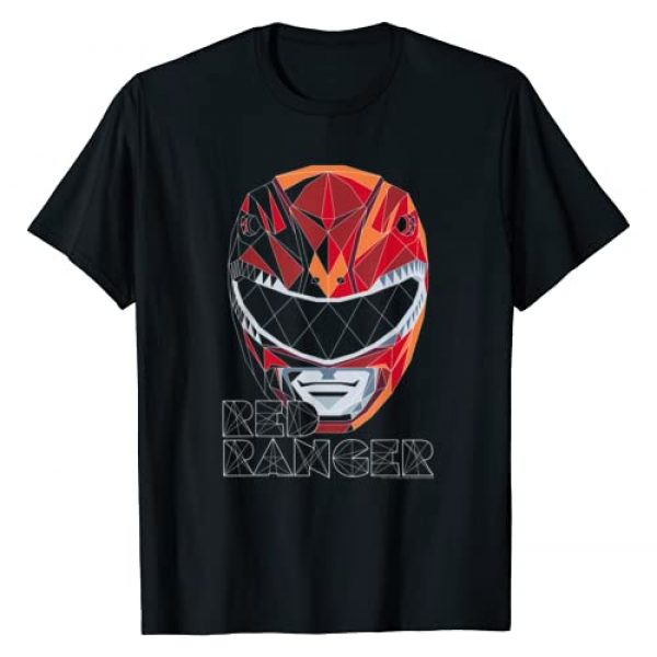 Power Rangers Graphic Tshirt 1 Red Ranger Polygon Big Face T-Shirt