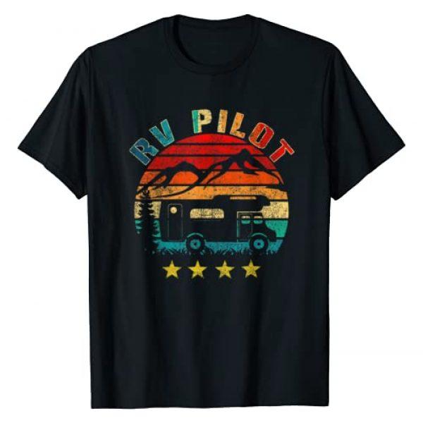 Funny Vintage Motorhome Travel Vacation Graphic Tshirt 1 RV Pilot Camping Funny Vintage Motorhome Travel Vacation T-Shirt