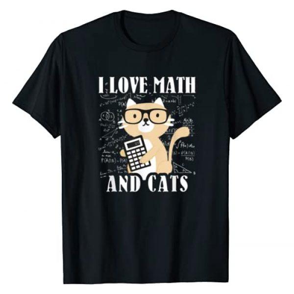 Cats Costume For Math Lovers Cat Outfit Math Joke Graphic Tshirt 1 Math Kitty Cat I Love Math And Cats Mathematics Math Gifts T-Shirt