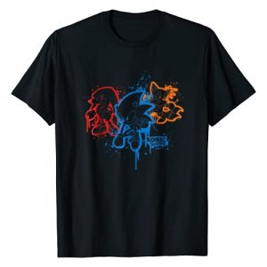 Sonic The Hedgehog Graphic Tshirt 1 Sonic & Friends Spray Paint T-Shirt