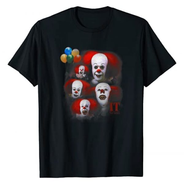 Pennywise Graphic Tshirt 1 IT: TV Mini Series Many Faces of Pennywise T-Shirt