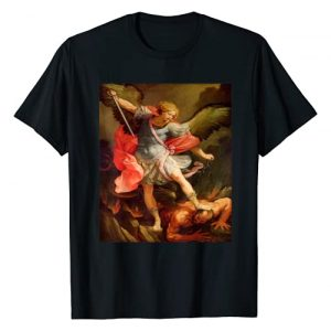 Star Gifts Graphic Tshirt 1 Angels Archangel Michael Defeating Satan Christian Warrior T-Shirt