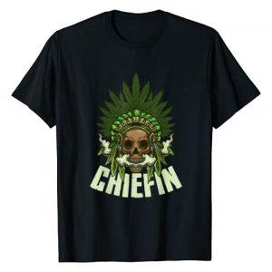 Funny Weed Gifts Graphic Tshirt 1 Chiefin Weed Indian Native American Weed Marijuana Stoner T-Shirt