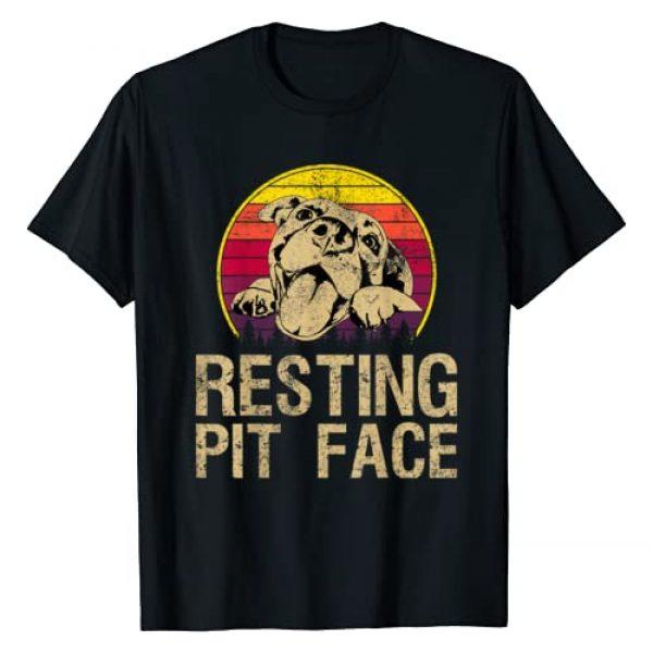 Vintage Resting Pit Face - Pitbull Lovers Gift Graphic Tshirt 1 Vintage Pitbull Resting Pit Face - Funny Pitbull Lovers T-Shirt