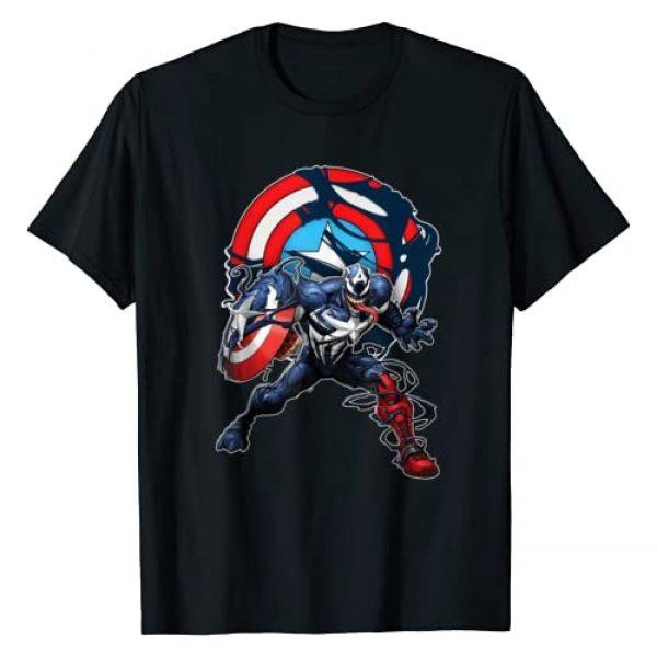 Marvel Graphic Tshirt 1 Spider-Man Maximum Venom Captain America Venomized T-Shirt