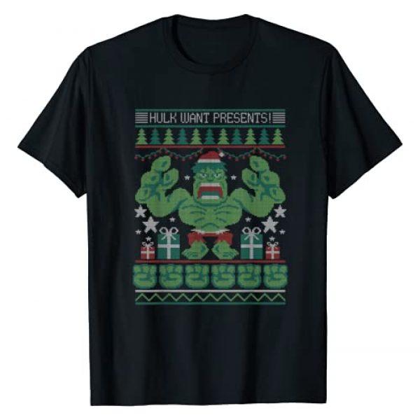 Marvel Graphic Tshirt 1 Hulk Wants Presents Holiday Sweater T-Shirt
