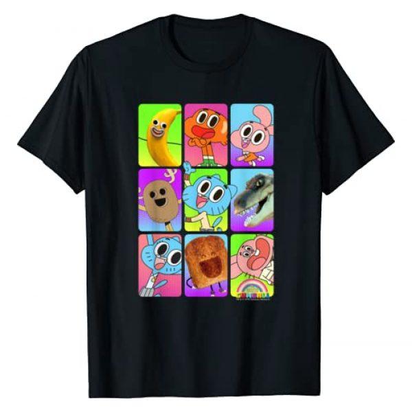 Cartoon Network Graphic Tshirt 1 CN The Amazing World Of Gumball Group Shot Panels T-Shirt