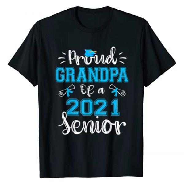 Proud Family Class of 2021 Senior Graduate Gifts. Graphic Tshirt 1 Funny Proud Grandpa of a 2021 Senior Graduation Gift T-Shirt