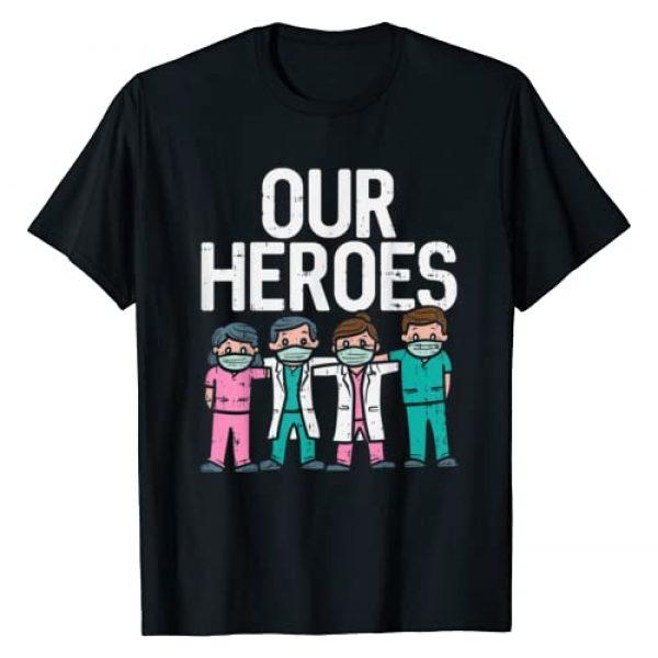 BoredKoalas Nurse Shirts ER RN L&D ICU ED Gifts Graphic Tshirt 1 Hero Doctor Nurse Healthcare Frontline Essential Worker Gift T-Shirt