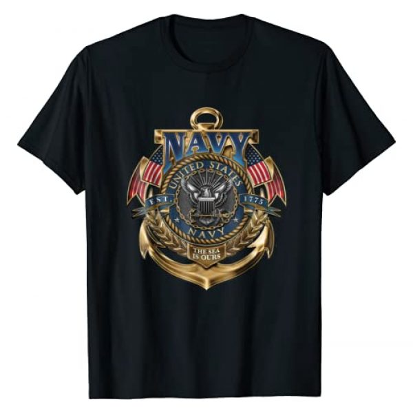 NAVY Graphic Tshirt 1 U.S. Navy Original USN The Sea Is Ours Navy Shirt Gift