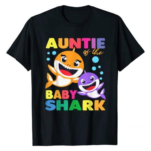 Funny Family Birthday Gifts Shark Shirts Graphic Tshirt 1 Aunt Of The Baby Shark Birthday Aunt Shark Shirt T-Shirt