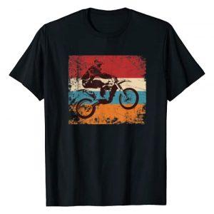 Vintage Retro Dirt Bike Motocross Designs Graphic Tshirt 1 Retro Off Road Motorcycle Motocross Enduro T-Shirt Gift