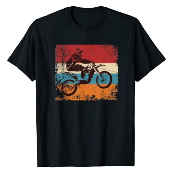 Vintage Retro Dirt Bike Motocross Designs Graphic Tshirt 1 Retro Off Road Motorcycle Motocross Enduro T-Shirt Gift