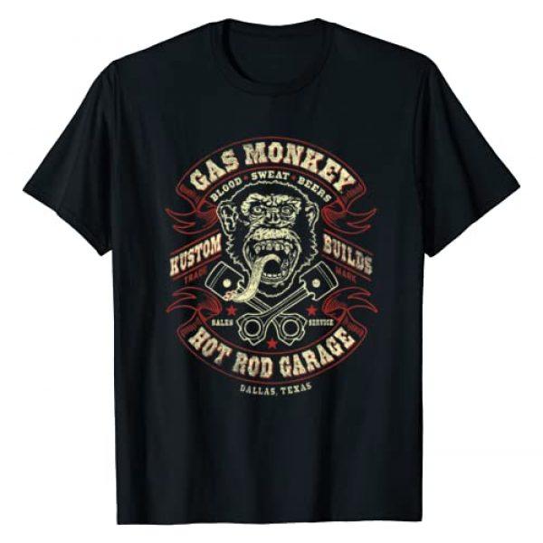 Gas Monkey Garage Graphic Tshirt 1 Crossed Pistons Ribbon Logo T-Shirt