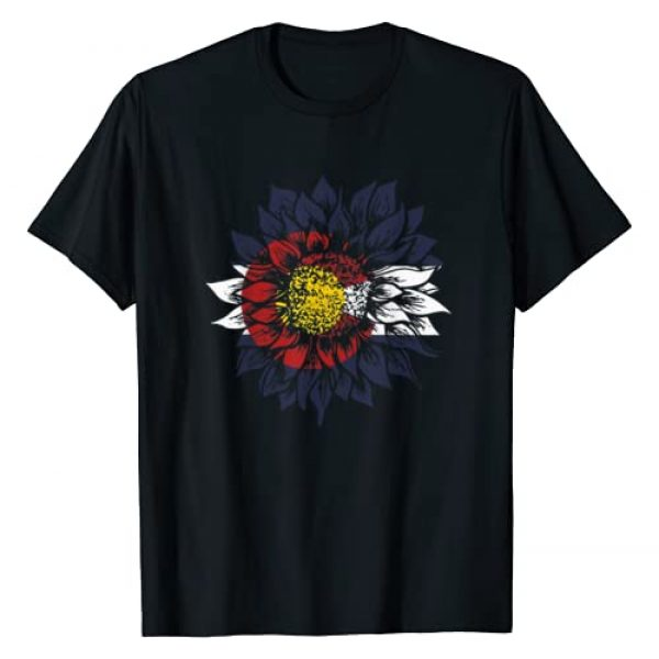 Funny United States gift tee Graphic Tshirt 1 Sunflower Colorado flag T-Shirt