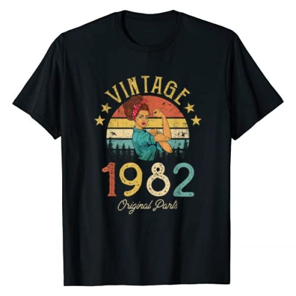 Vintage 1982 Classic Things Graphic Tshirt 1 Vintage 1982 Made in 1982 38th birthday 38 years old Gift T-Shirt