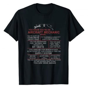 Designed For Flight Graphic Tshirt 1 You Know You're an Aircraft Mechanic When.. Funny A&P Saying T-Shirt