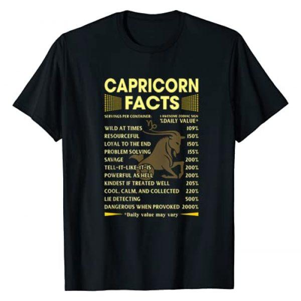 Funny Capricorn Facts Tee Shirt Graphic Tshirt 1 Capricorn Facts Zodiac Funny Capricorn Birthday Gift T-Shirt