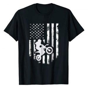 Vintage American Flag Motocross Shirts Graphic Tshirt 1 American Flag Motorcross T-shirt Cool Dirt Bike Gift Top Tee