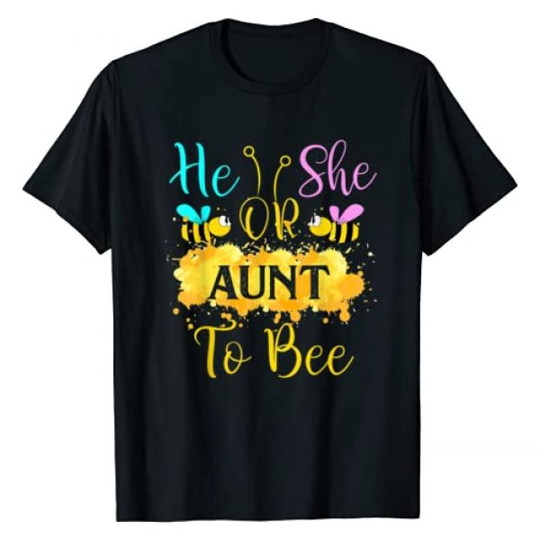TrendyPull Matching Gender Reaveal Bee Party Graphic Tshirt 1 Gender Reveal What Will It Bee - He or She Aunt T-Shirt